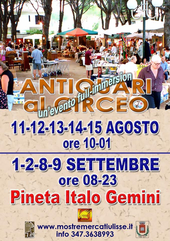 antiquari-circeo---mercatino-antiquariato--pineta--san-felice-circeo-estate-2017